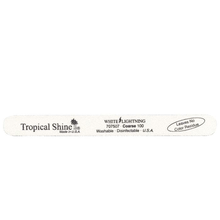 TROPICAL SHINE White Lightening File - Coarse - 100 Grit