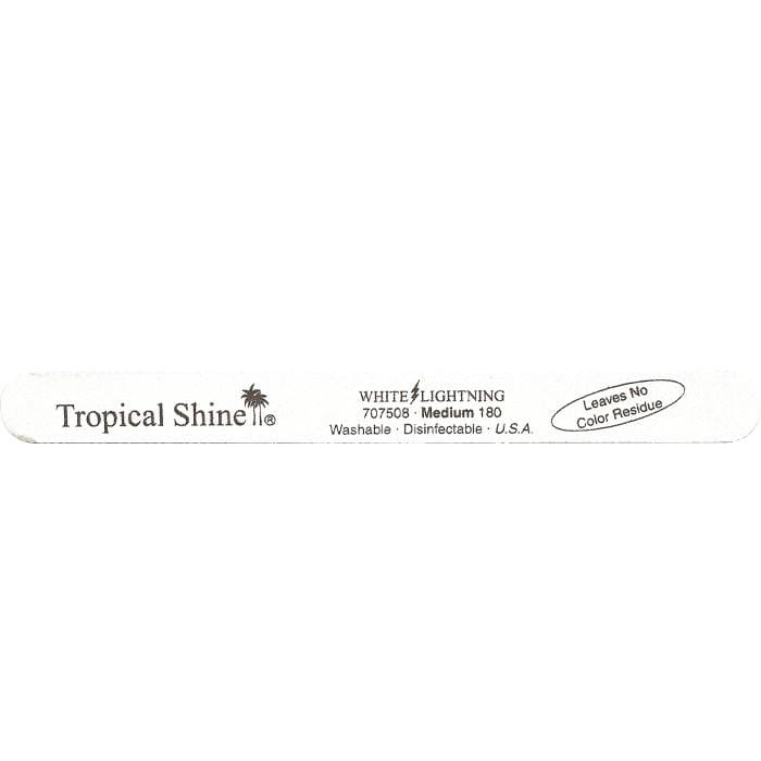 TROPICAL SHINE White Lightening File - Medium - 180 Grit