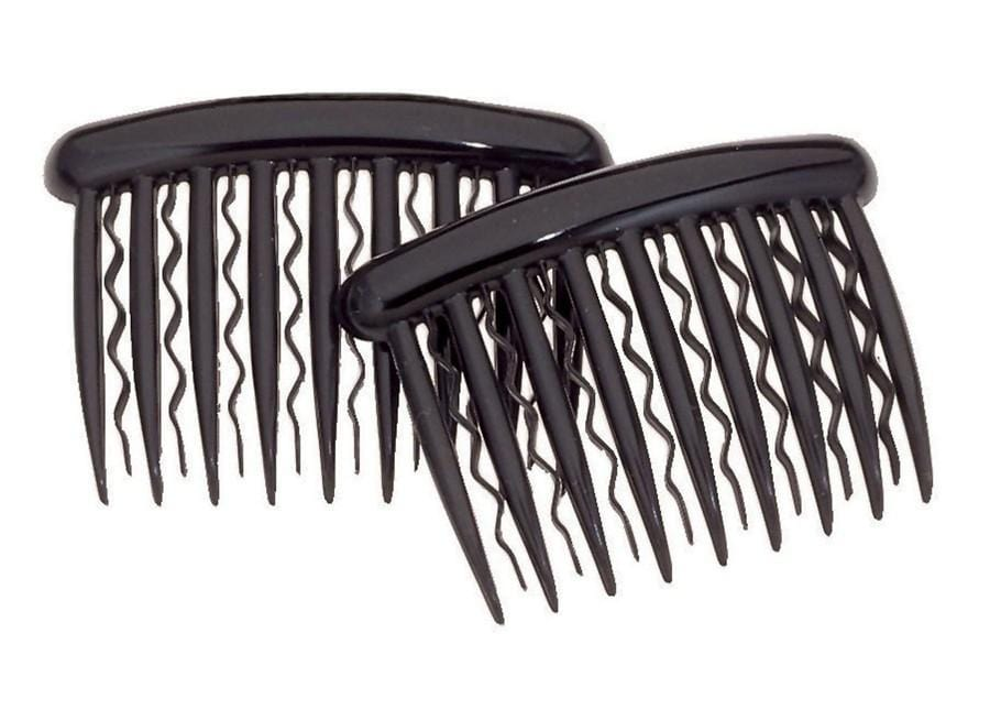 "DCNL Black Side Comb - Fine Hair 3"" K3930Bx2"