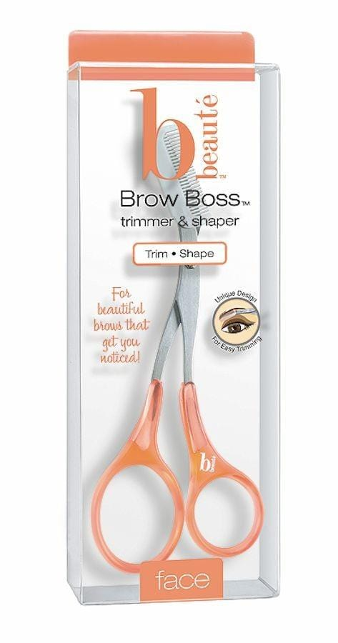 B BEAUTE Brow Boss Eyebrow Scissors W/Trim Comb