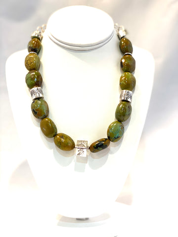 Earth Tones Turquoise Necklace