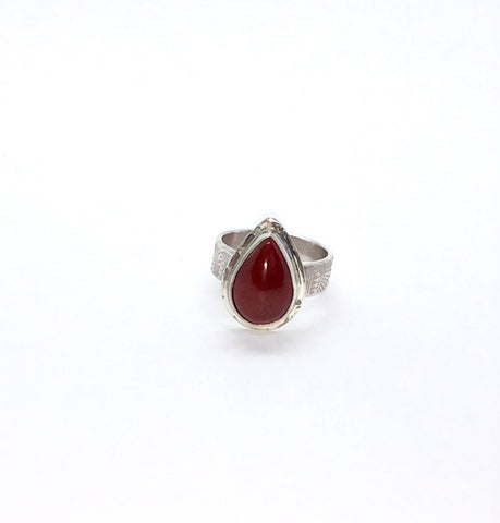 Pear Shape Carnelian Ring