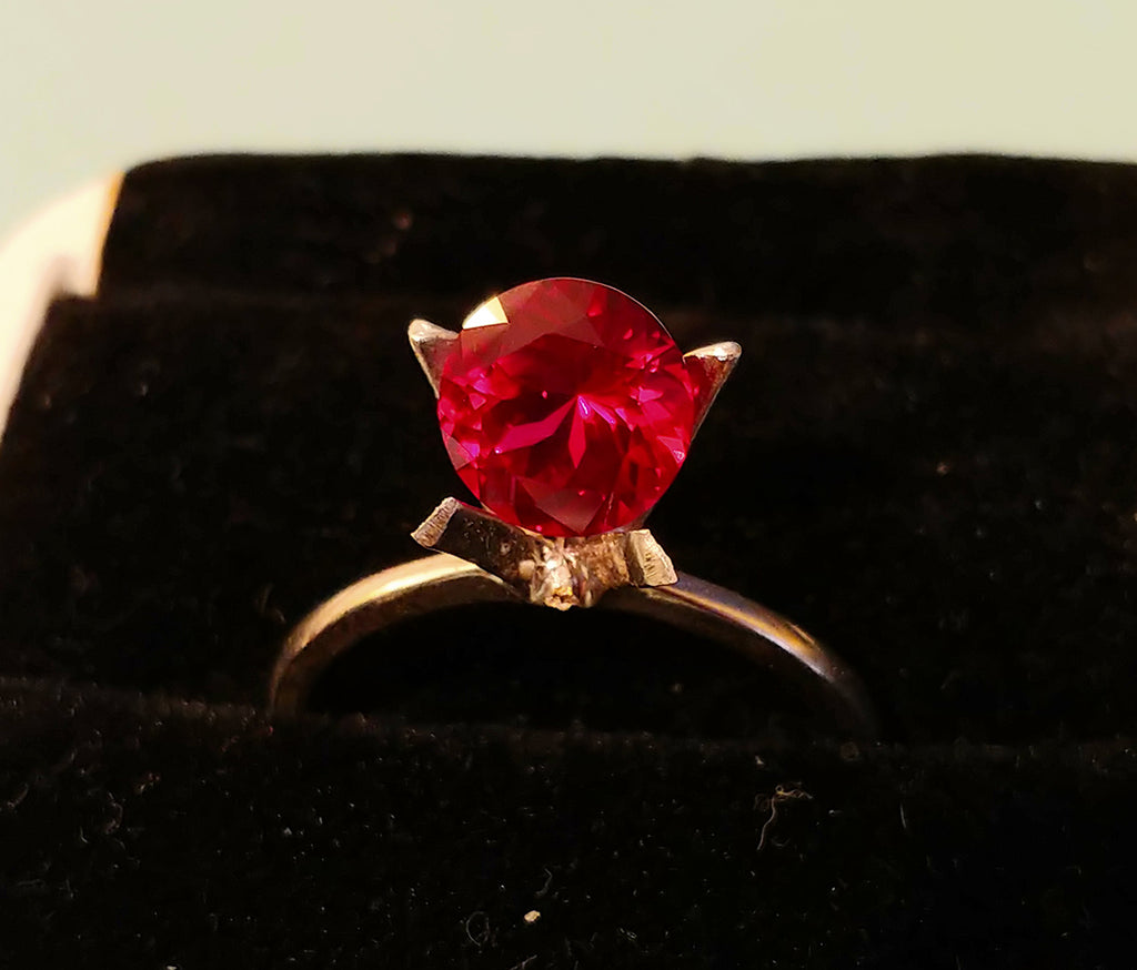 Ruby - 7mm, 1.25ct Cultured Pigeon Blood Red Ruby