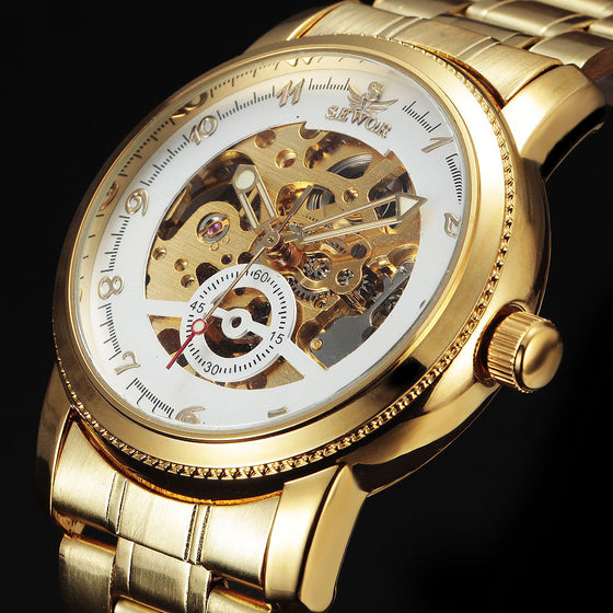 Luxury Gold Skeleton Watch