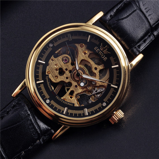 Black and Gold Luxury Watch