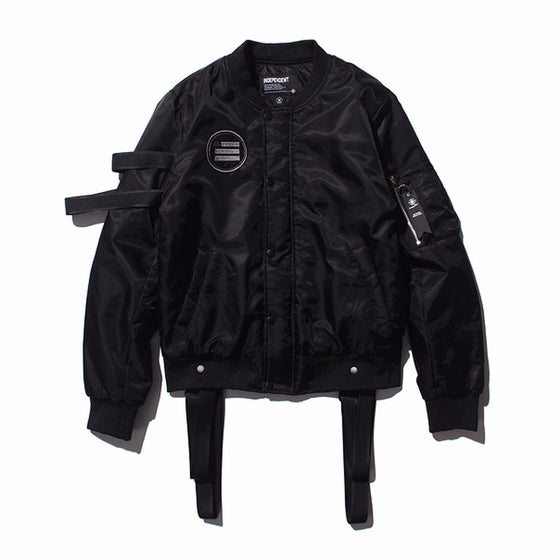 Black Walking Bord Bomber Jacket
