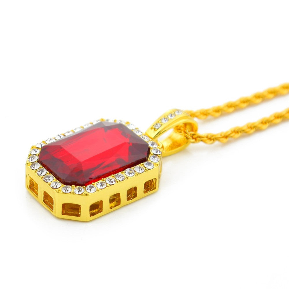 pendant plated gold sign dollar chain bling en out hiphop iced pendants