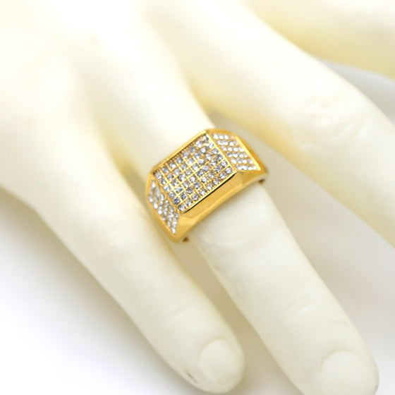18k Gold Stainless Steel Ring