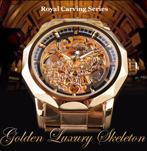 Royal Carien Golden Luxury Watch