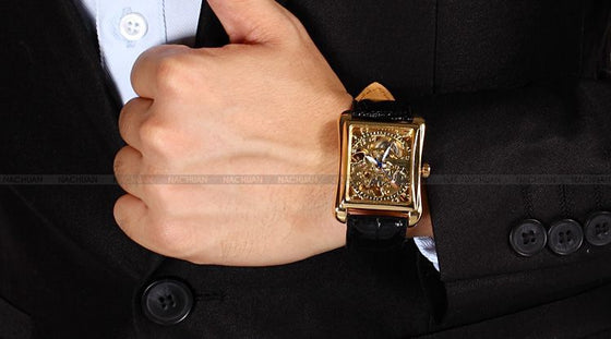 Skeleton Gold Mechanical Watch