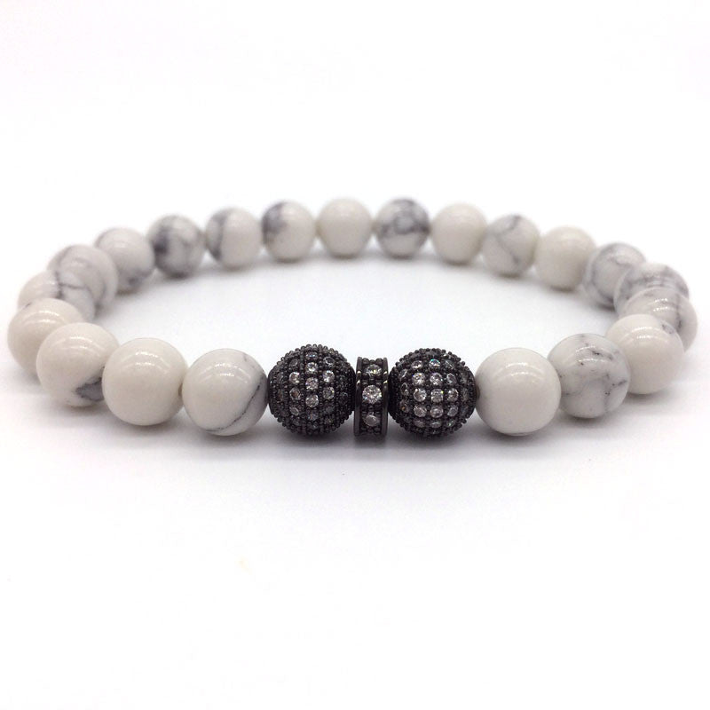 b58b52ccb134 ... 2016 New Trendy Fashion Men Bracelet 8mm Ball  Beads Charm Bracelets  For Best Luxury Jewelry Gift ...