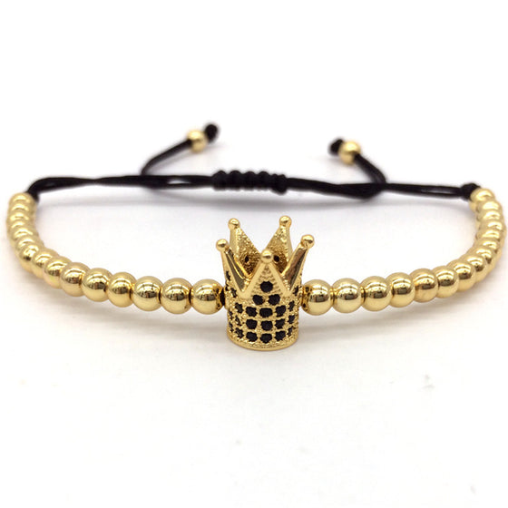 Imperial Crown Charm Bracelet