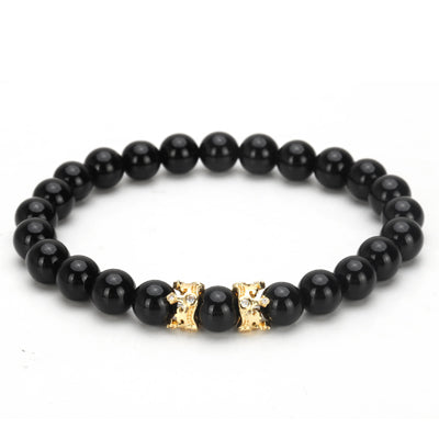 Crown 8mm Beaded Bracelet