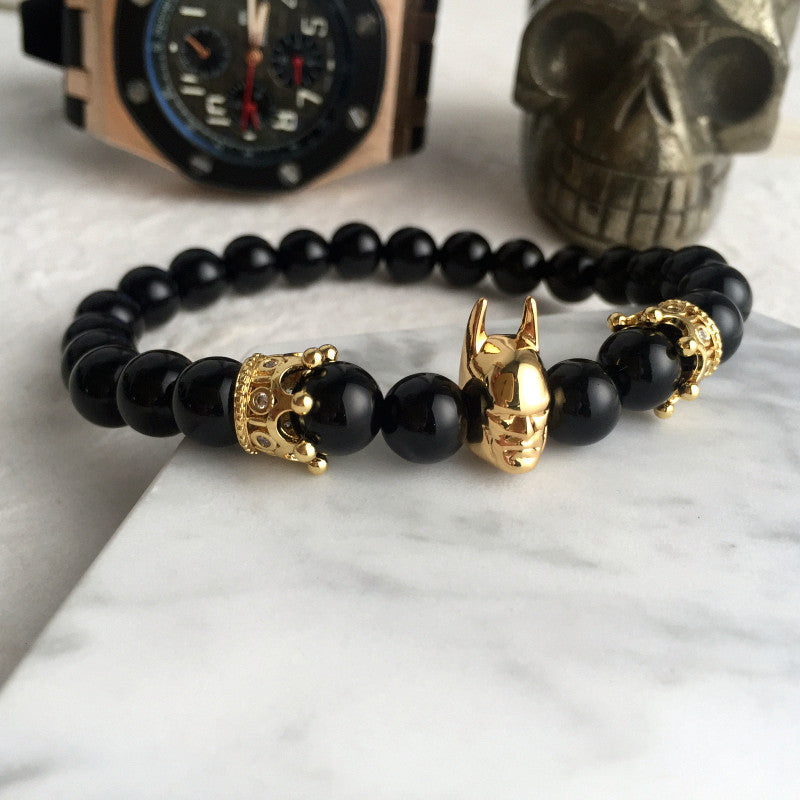 Batman Crown Matte Bracelet