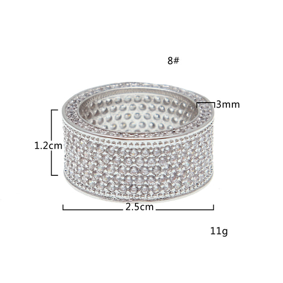 Luxury Crystal Silver Ring