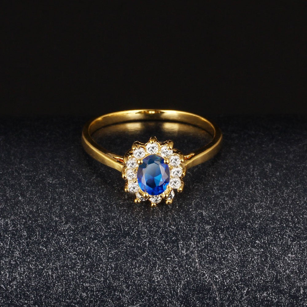 Classic Sapphire 18K Gold Plated