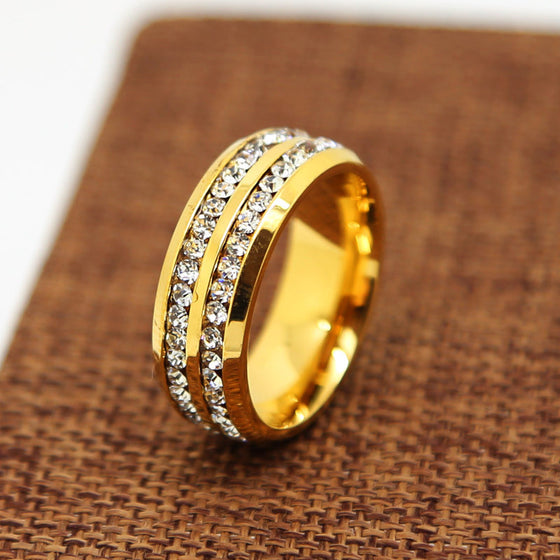 18K Gold Diamond Classic Ring
