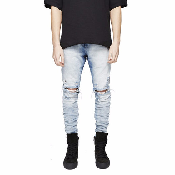Denim Knee Cut Jean