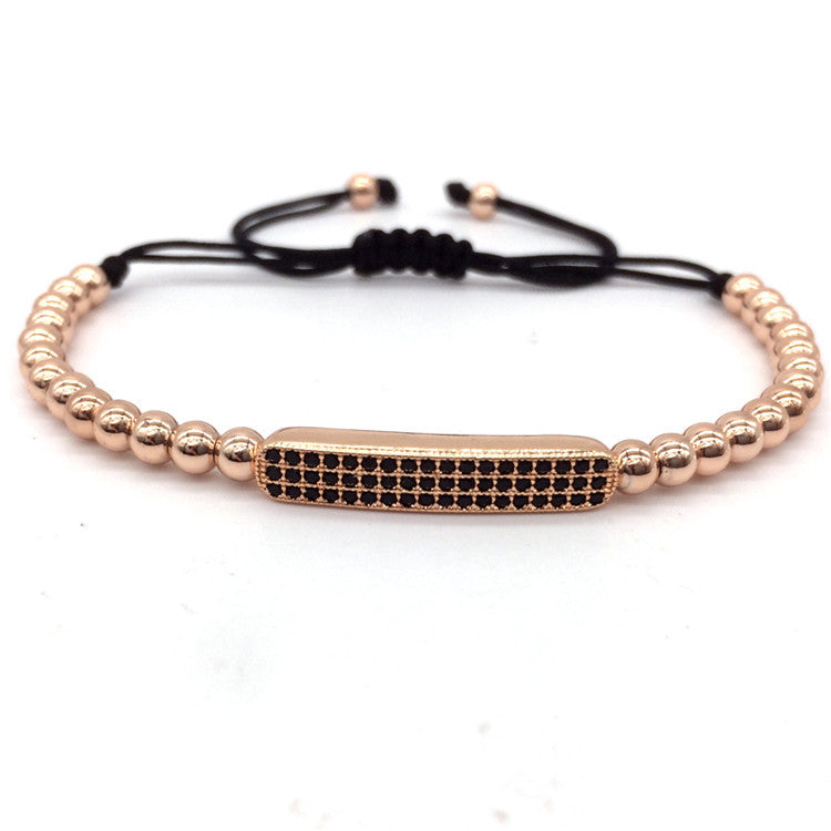 Macrame 4MM Copper Beads Charm Bracelet