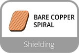 Bare Copper Spiral Shielding