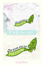 My First Day of Preschool Svg