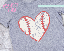 Distressed Grunge Baseball Heart with Stitches Svg
