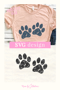 Distressed Paw Svg