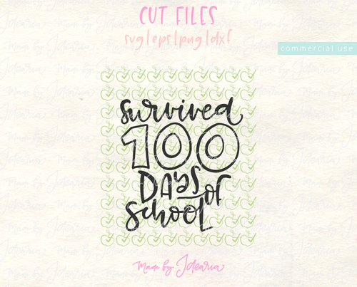 Survived 100 Days Of School Svg