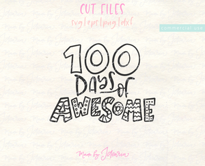 100 Days Of Awesome Svg