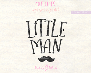 Little Man Baby Boy Svg File