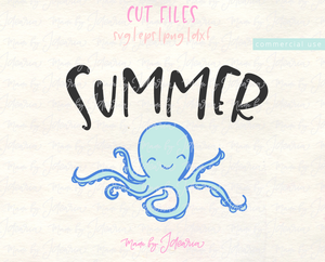 Summer Octopus Svg