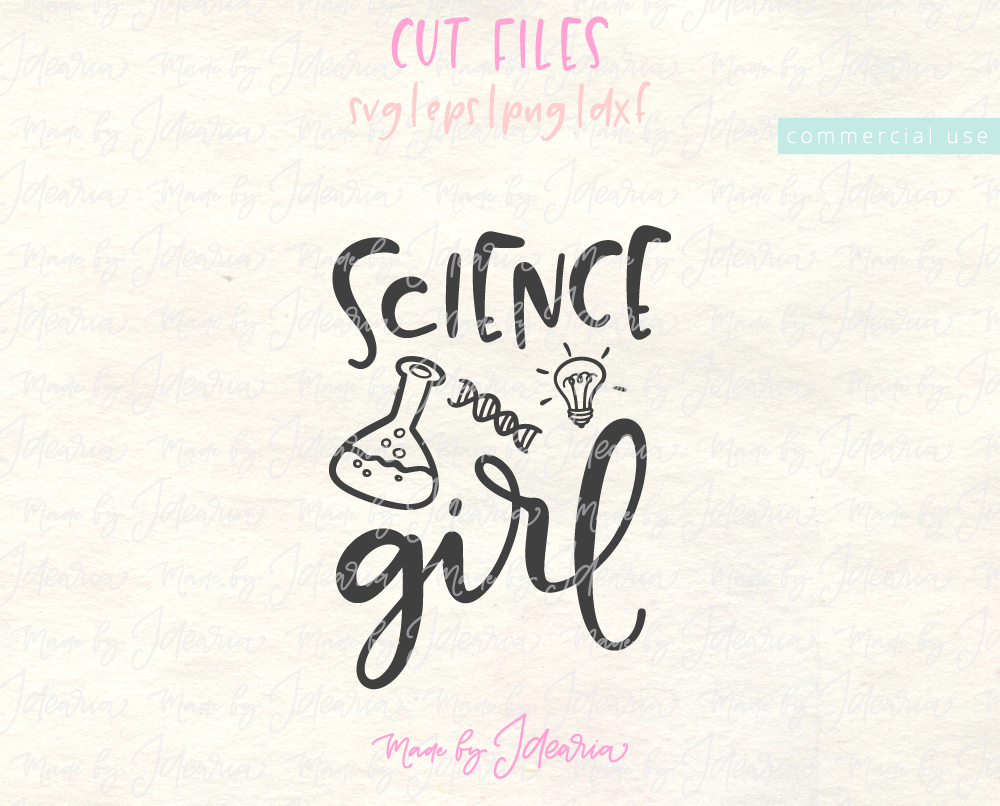 Science Girl Svg