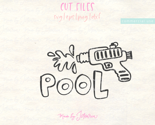 Water Gun Pool Svg