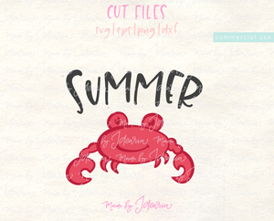 Summer Crab Svg