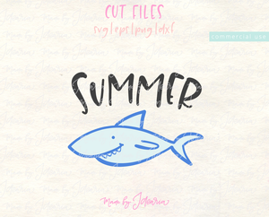 Cute Shark Summer Svg