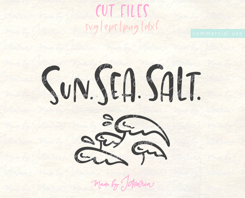 Sun Sea Salt Svg
