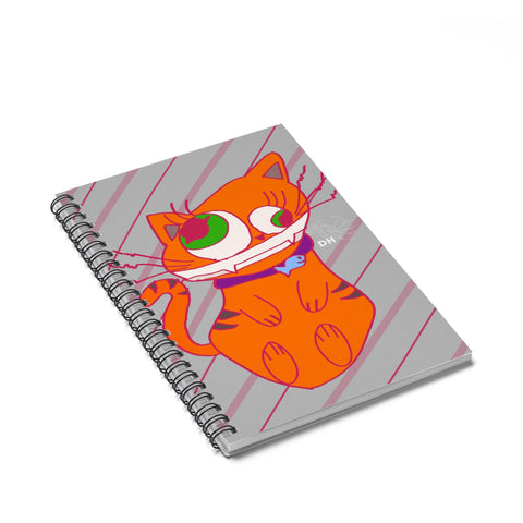 Deranged Cat Spiral Notebook - Ruled Line