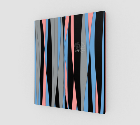 Candy Stripes canvas