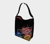 Black Dragon Art Messenger Bag