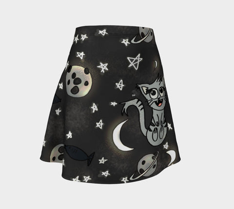 Kitty In Space Flare Skirt