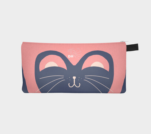 Kitty Pink Carry-All Pouch