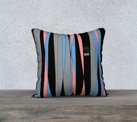 "Candy Stripes 18"" x 18"" Pillow Case"