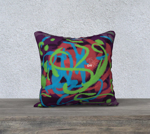 "Art Is Life 18"" x 18"" Pillow Case"