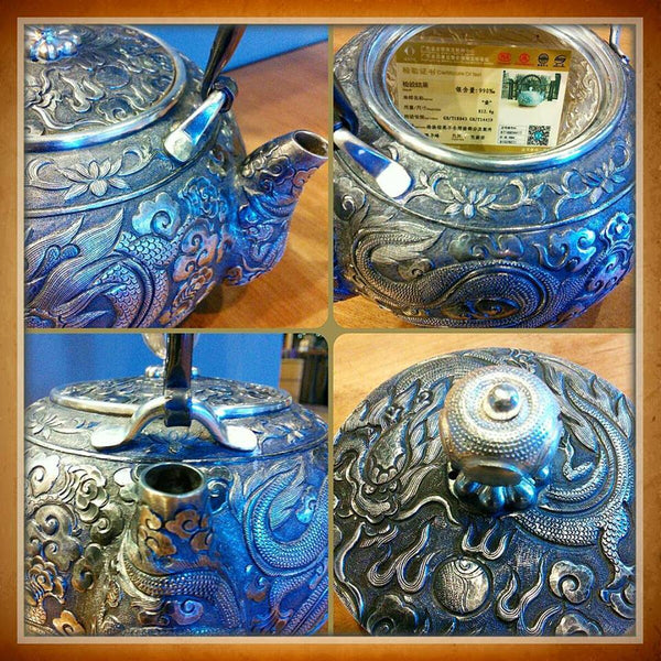 SILVER TEA KETTLE / TEAPOT