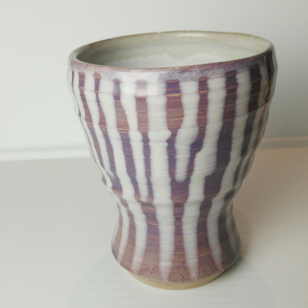 Japanese Tea Cup -Stripes of Lavender
