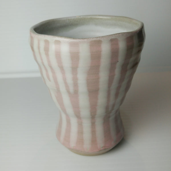 Japanese Tea Cup -Stripes of Pink