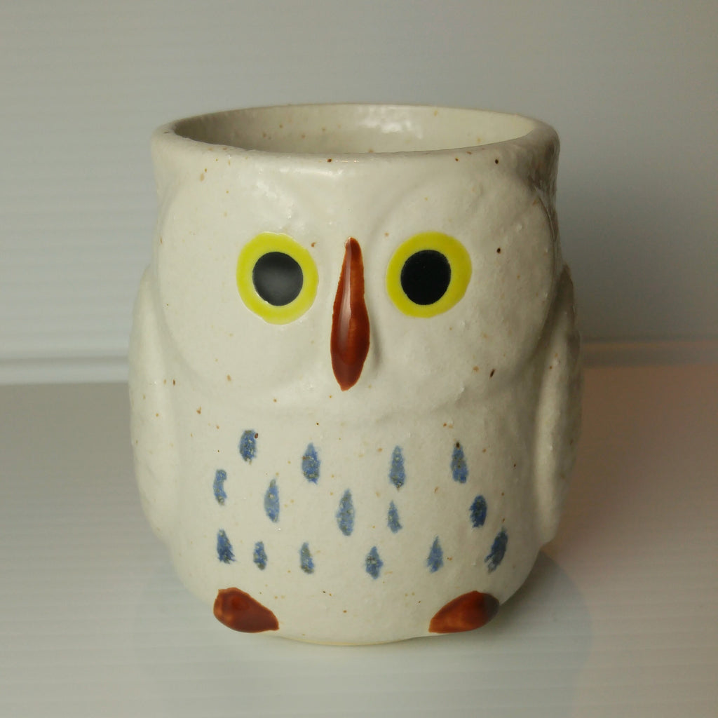 Owl Mug with Handle - White
