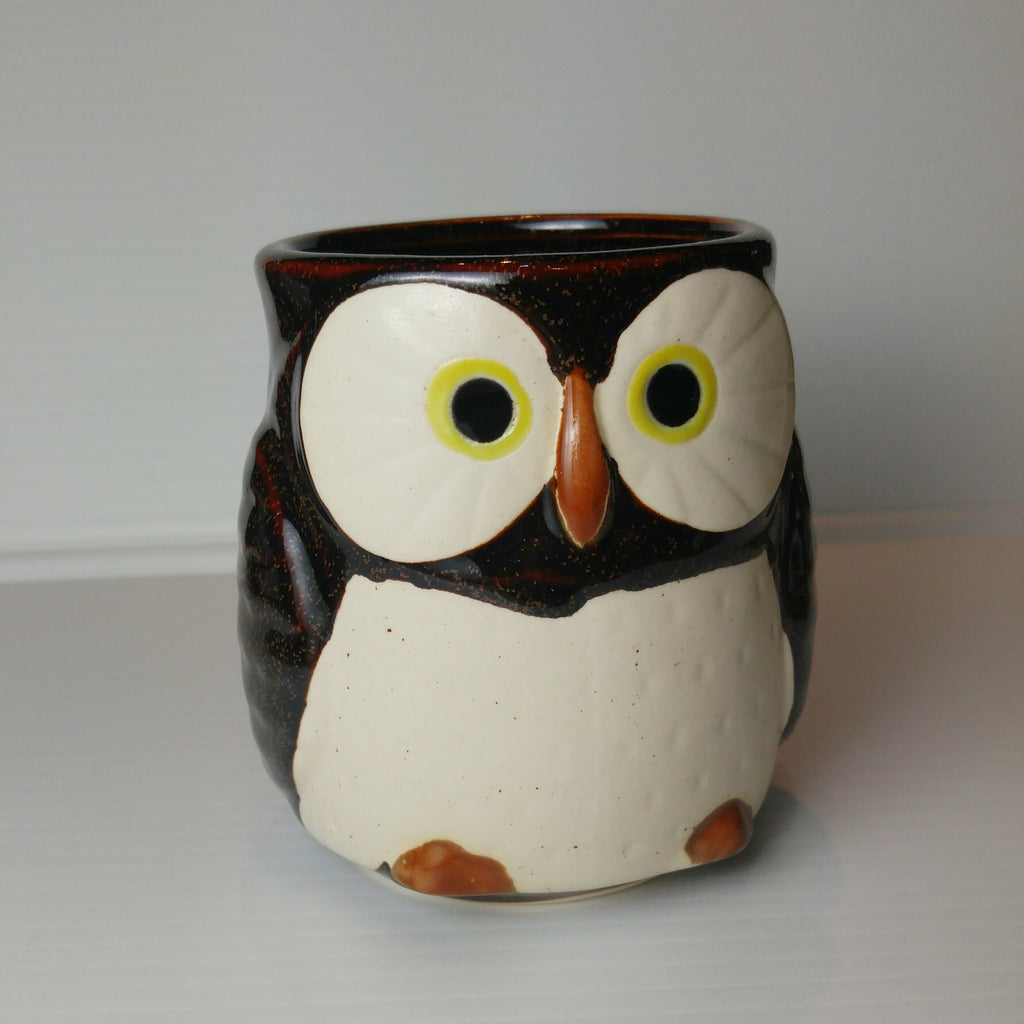 Owl Mug with Handle - Sultry Red