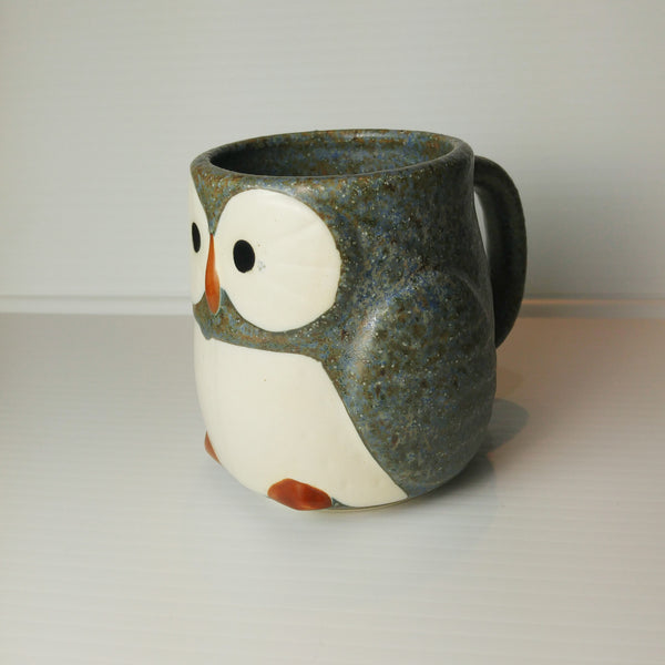 Owl Mug with Handle - Sky Blue