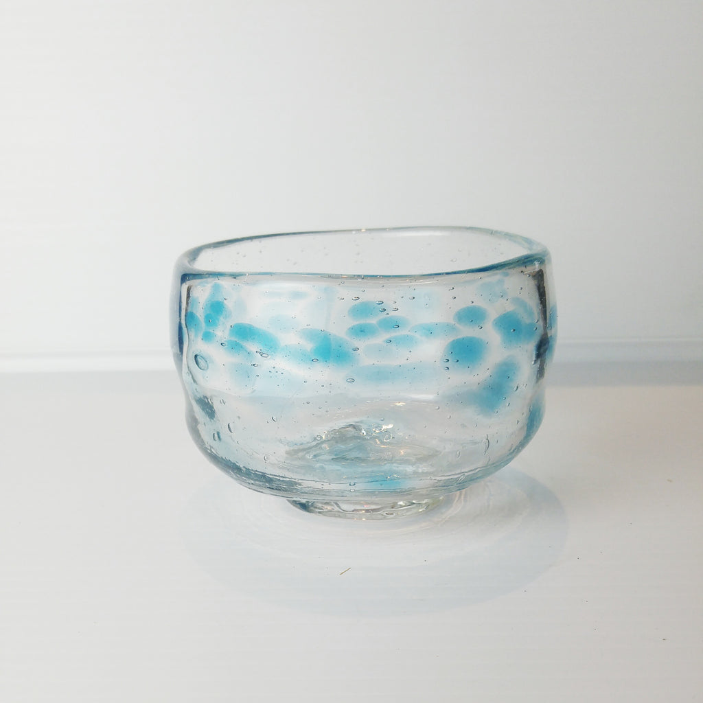 Matcha Bowl - Glass Blue